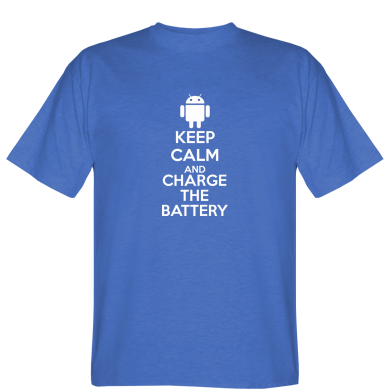 Футболка KEEP CALM and CHARGE BATTERY