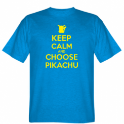 Футболка Keep Calm and Choose Pikachu