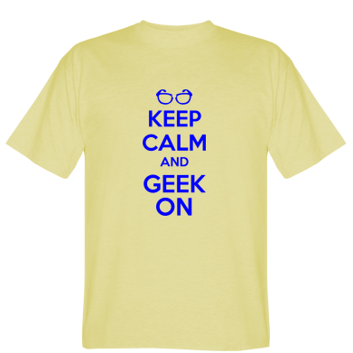 Футболка KEEP CALM and GEEK ON