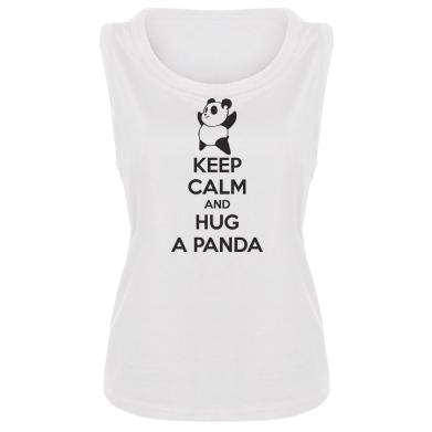 Женская майка KEEP CALM and HUG A PANDA