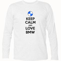 Футболка з довгим рукавом Keep Calm and Love BMW