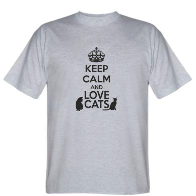 Футболка KEEP CALM and LOVE CATS