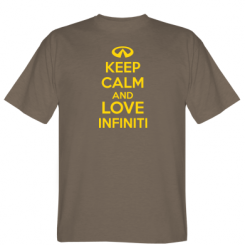 Футболка KEEP CALM and LOVE INFINITI