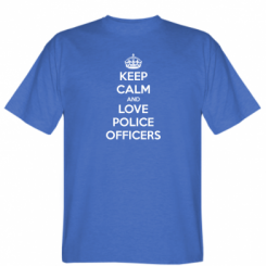 Футболка Keep Calm and Love police officers