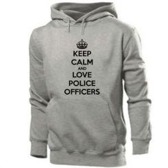 Толстовка Keep Calm and Love police officers