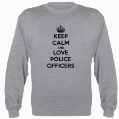 Реглан Keep Calm and Love police officers