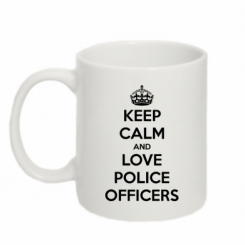 Кружка 320ml Keep Calm and Love police officers
