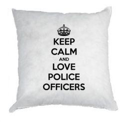 Подушка Keep Calm and Love police officers
