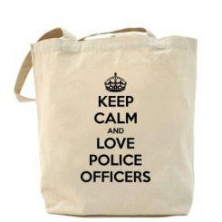 Сумка Keep Calm and Love police officers