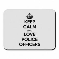 Килимок для миші Keep Calm and Love police officers