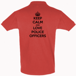 Футболка Поло Keep Calm and Love police officers