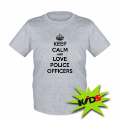 Дитяча футболка Keep Calm and Love police officers