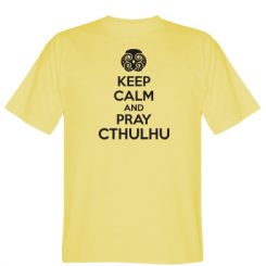 Футболка KEEP CALM AND PRAY CTHULHU