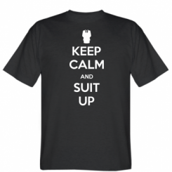 Футболка Keep Calm and suit up!