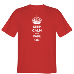 Футболка KEEP CALM and VAPE ON