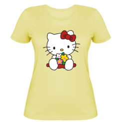 Жіноча футболка Kitty з букетиком
