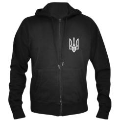 Купити Чоловіча толстовка на блискавці Класичний герб України
