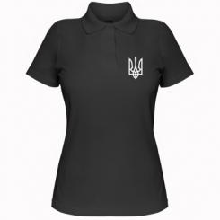 Купити Жіноча футболка поло Класичний герб України