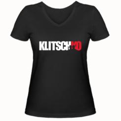 Купити Жіноча футболка з V-подібним вирізом Klitschko