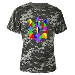 Купити Камуфляжна футболка Кольоровий герб