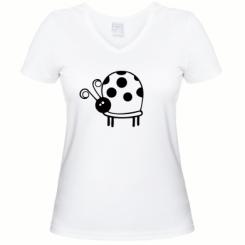 Купити Жіноча футболка з V-подібним вирізом Корівка