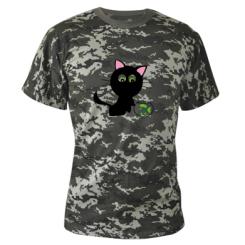 Купити Камуфляжна футболка Кішечка і акваріум