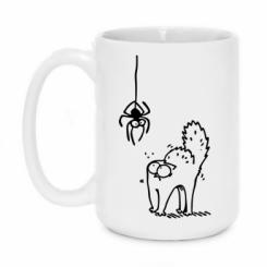 Кружка 420ml Кіт та павук