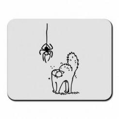 Килимок для миші Кіт та павук