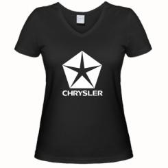 Купити Жіноча футболка з V-подібним вирізом Крайслер
