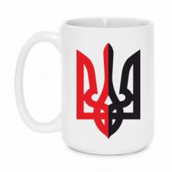 Купити Кружка 420ml Двокольоровий герб України