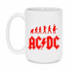 Кружка 420ml Еволюція AC\DC