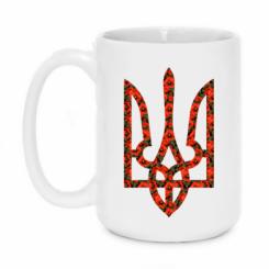 Купити Кружка 420ml Герб України з маками