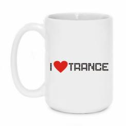 Кружка 420ml i love trance