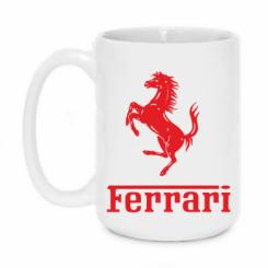 Купити Кружка 420ml логотип Ferrari