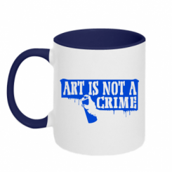 Кружка двокольорова Art is not crime