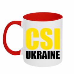 Кружка двокольорова CSI Ukraine