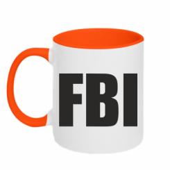 Купити Кружка двокольорова FBI (ФБР)