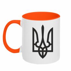 Купити Кружка двокольорова Класичний герб України