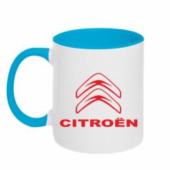 Купити Кружка двокольорова Логотип Citroen