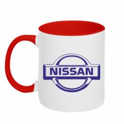 Купити Кружка двокольорова логотип Nissan