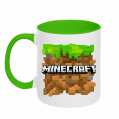 Кружка двокольорова Minecraft Main Logo