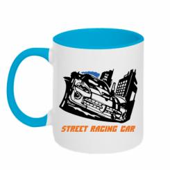 Купити Кружка двокольорова Street Racing Car