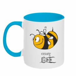 Купити Кружка двокольорова Шалена бджілка