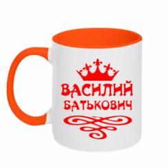 Купити Кружка двокольорова Василь Батькович