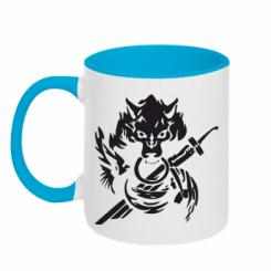 Кружка двокольорова Вовк з мечем