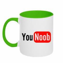 Купити Кружка двокольорова YouNOOB