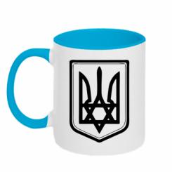Купить Кружка двухцветная Звезда Давида+герб