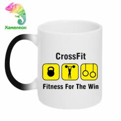 Купити Кружка-хамелеон Crossfit Fitness For The Win