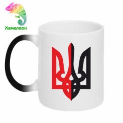 Купити Кружка-хамелеон Двокольоровий герб України