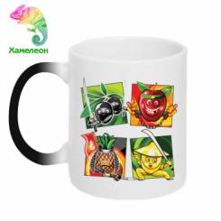 Кружка-хамелеон Fruit Ninja